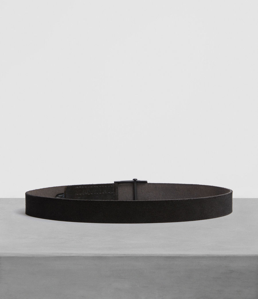 Men's Oden Leather Belt (black) - Image 4