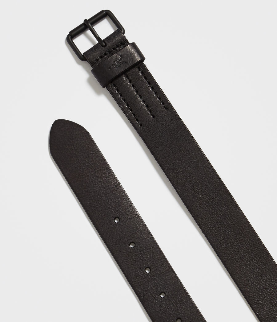 Men's Dunston Leather Belt (black) - Image 3