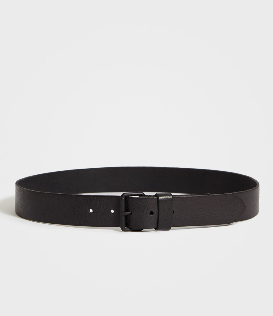 Men's Dunston Leather Belt (black) - Image 4