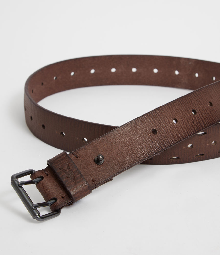 Mens Mill Leather Belt (bitter_brown) - Image 2