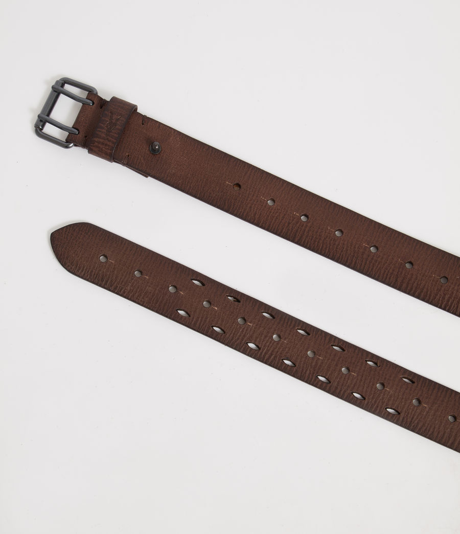 Mens Mill Leather Belt (bitter_brown) - Image 3