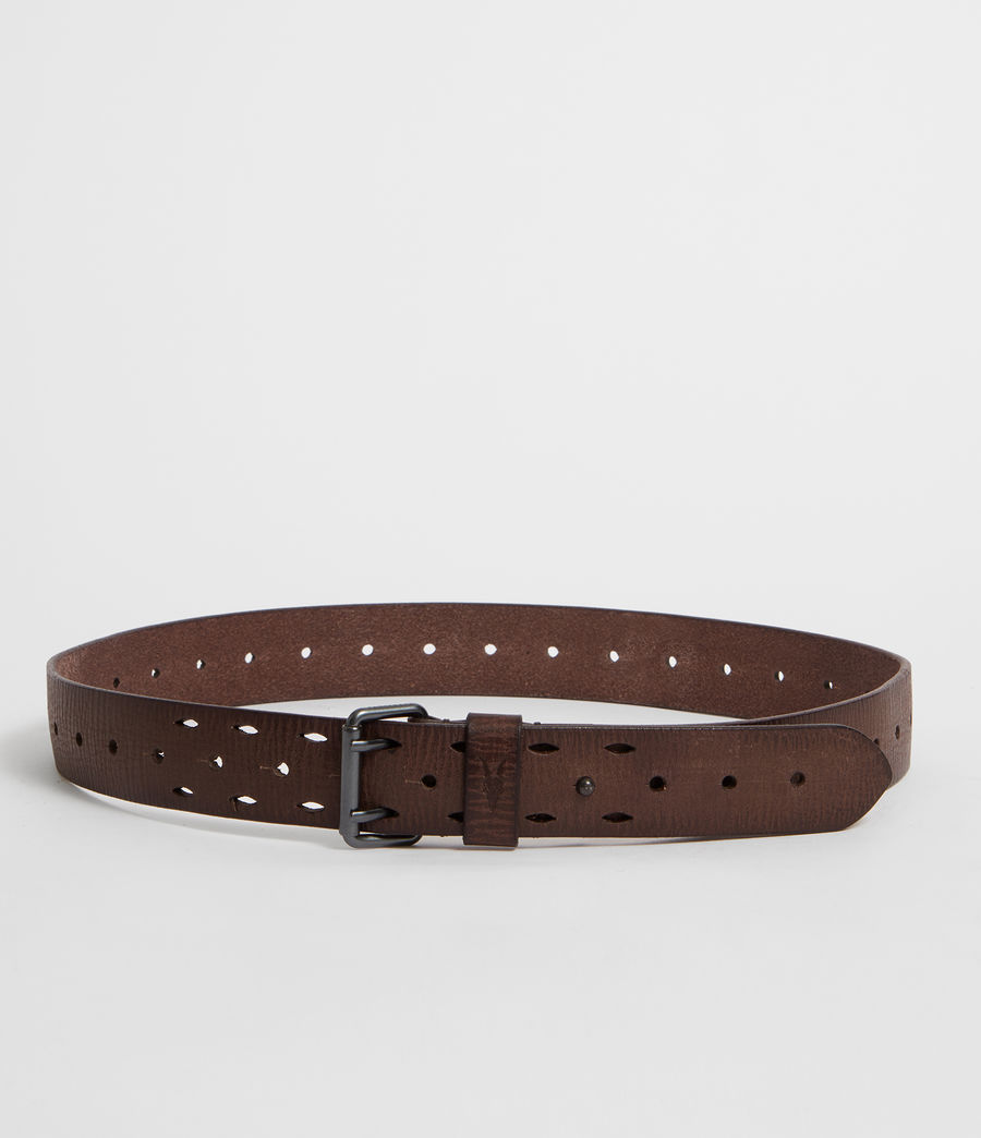 Mens Mill Leather Belt (bitter_brown) - Image 4