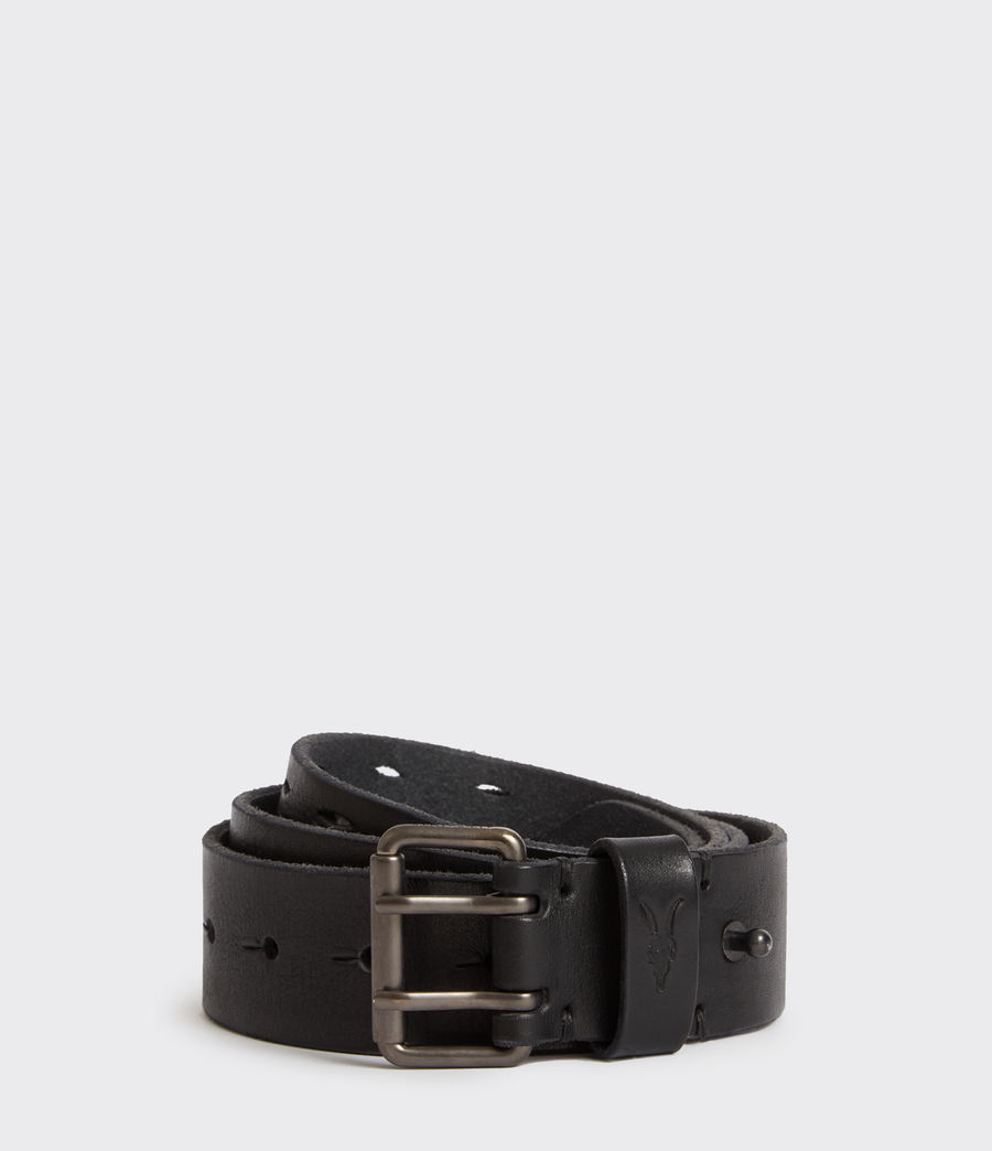 Mens Mill Leather Belt (washed_black) - Image 1