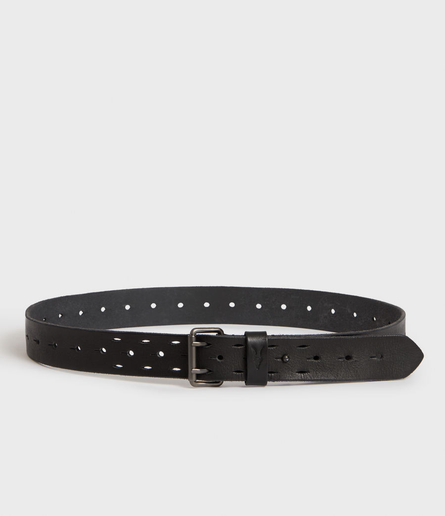 Mens Mill Leather Belt (washed_black) - Image 3