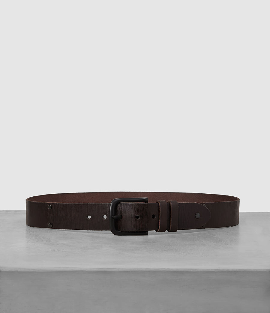 Mens Wide Annex Leather Belt (bitter_brown) - Image 1