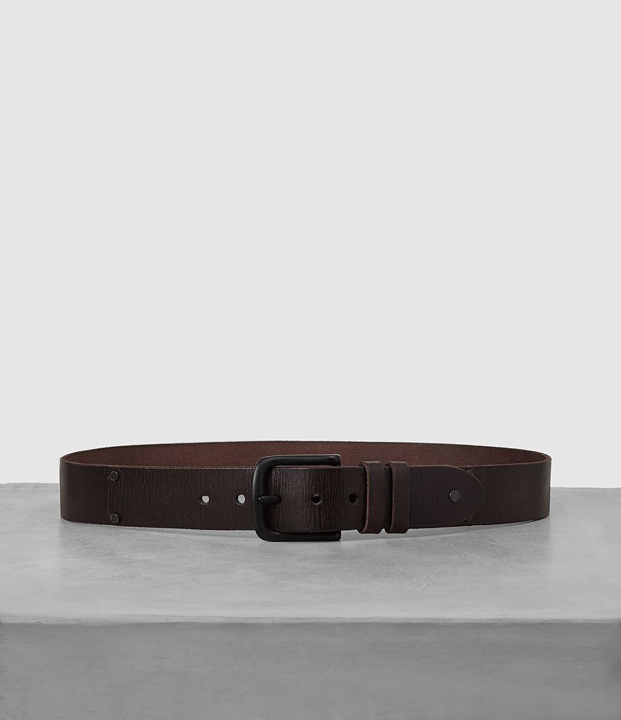 Men's Wide Annex Leather Belt (bitter_brown) - Image 1