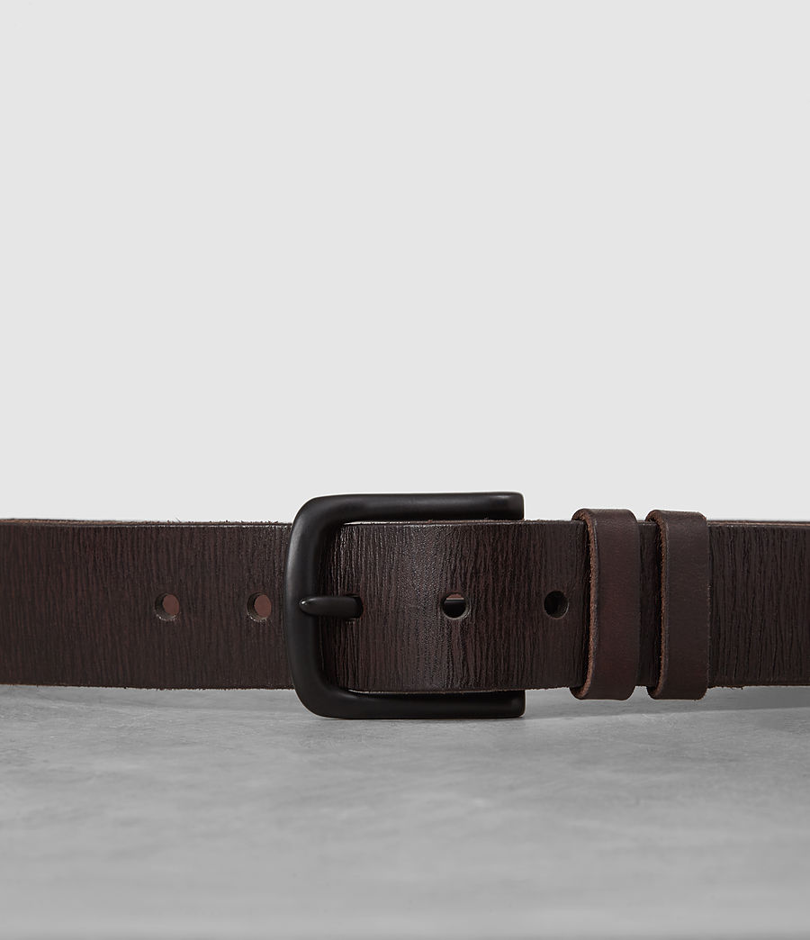 Mens Wide Annex Leather Belt (bitter_brown) - Image 2
