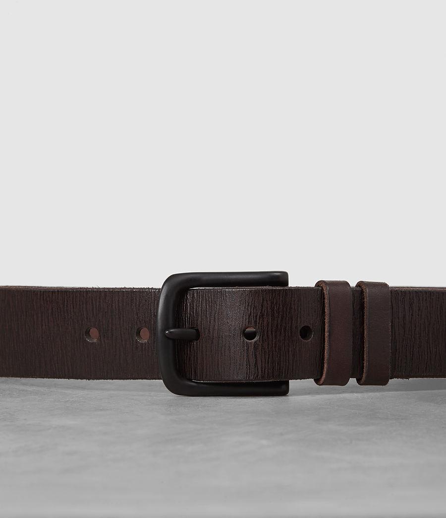 Men's Wide Annex Leather Belt (bitter_brown) - Image 2