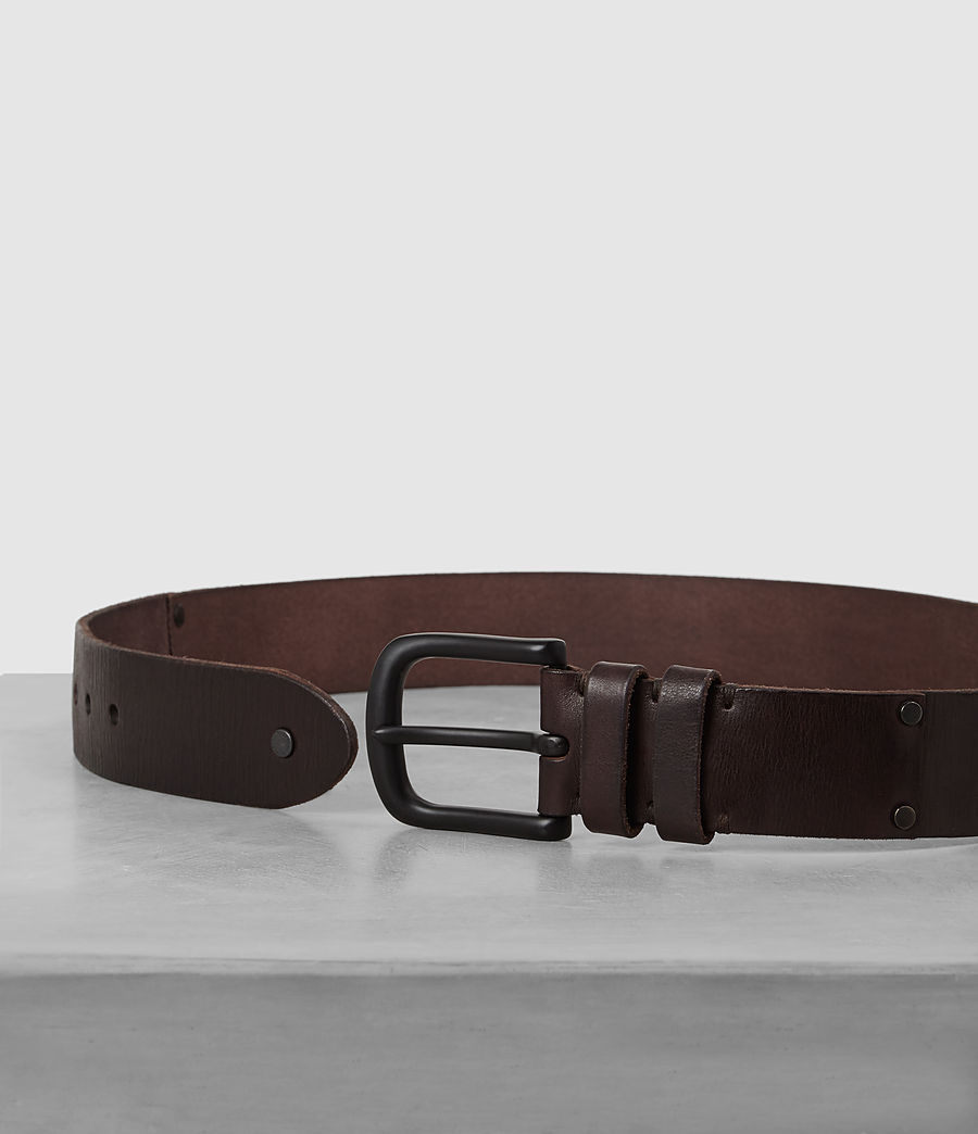 Mens Wide Annex Leather Belt (bitter_brown) - Image 3
