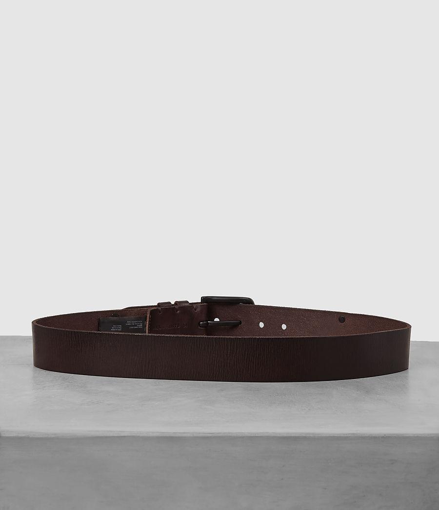 Men's Wide Annex Leather Belt (bitter_brown) - Image 4