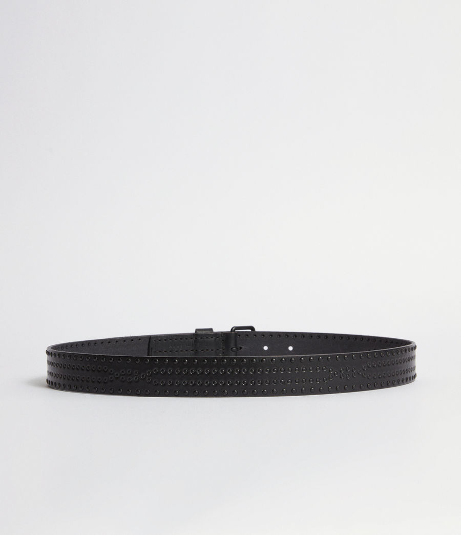 Mens Denver Leather Stud Belt (black) - Image 3