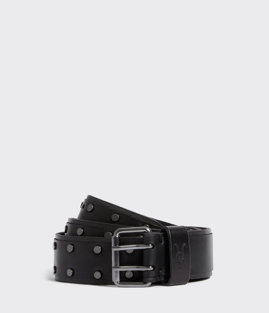 Mens Croft Jeans Leather Belt (black) - Image 1