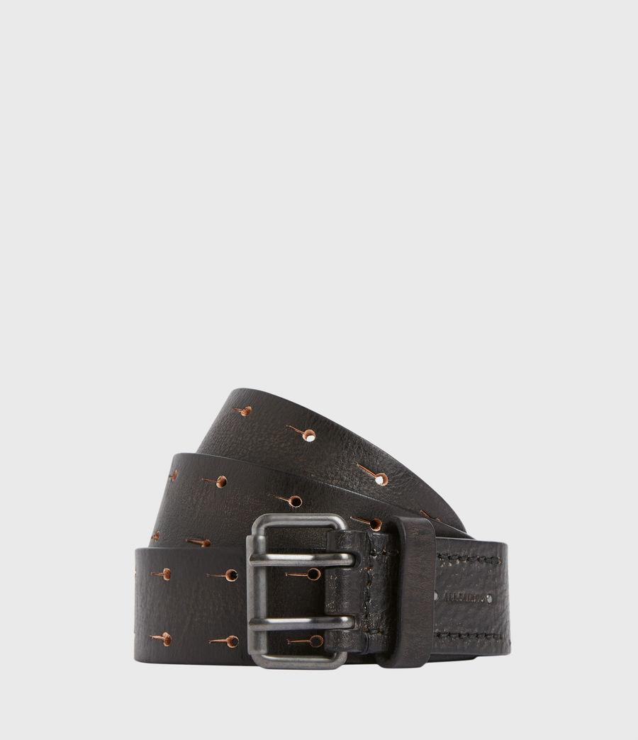 Men's Zaiden Leather Belt (black) - Image 1