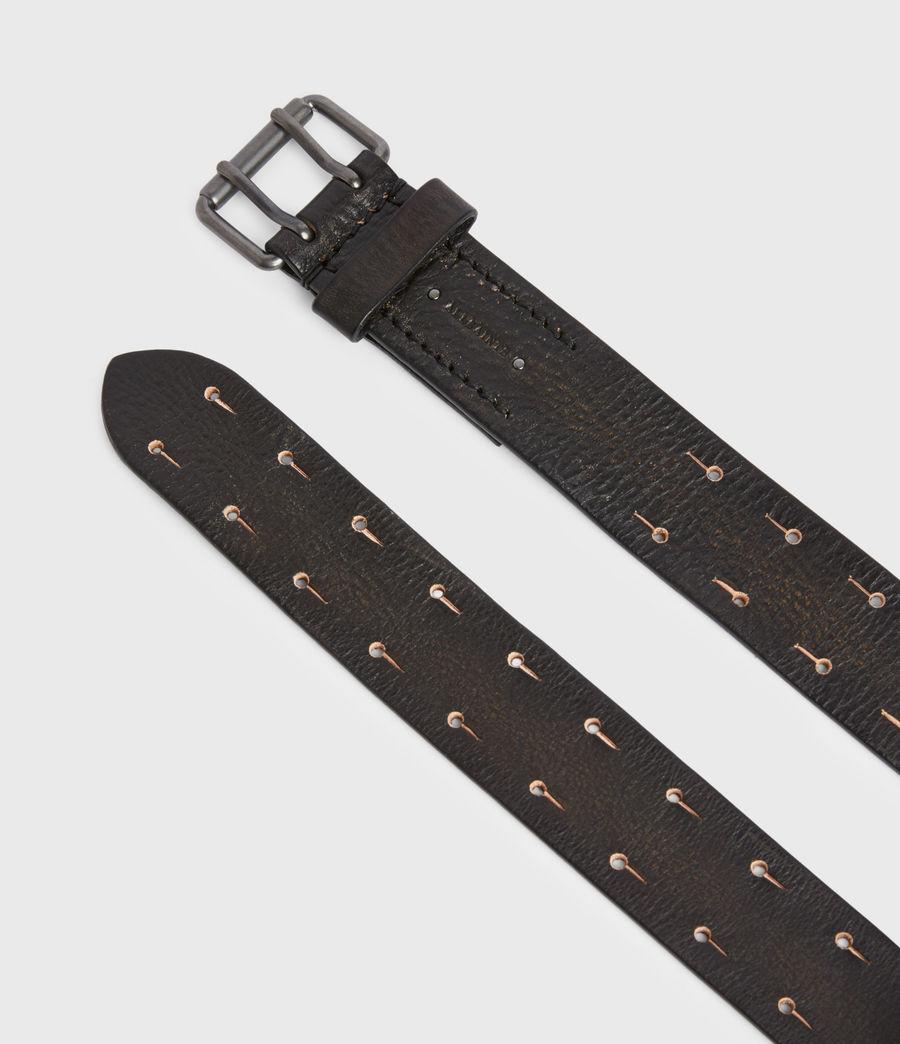 Men's Zaiden Leather Belt (black) - Image 3