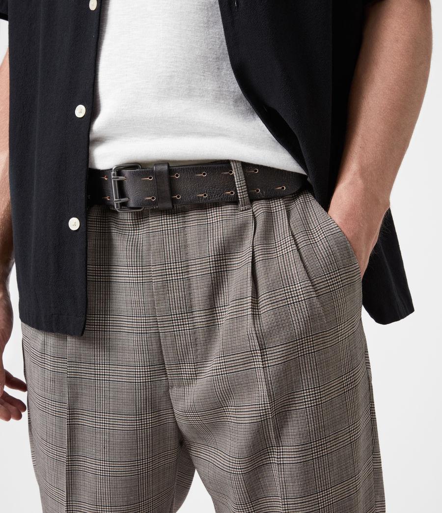 Men's Zaiden Leather Belt (black) - Image 4