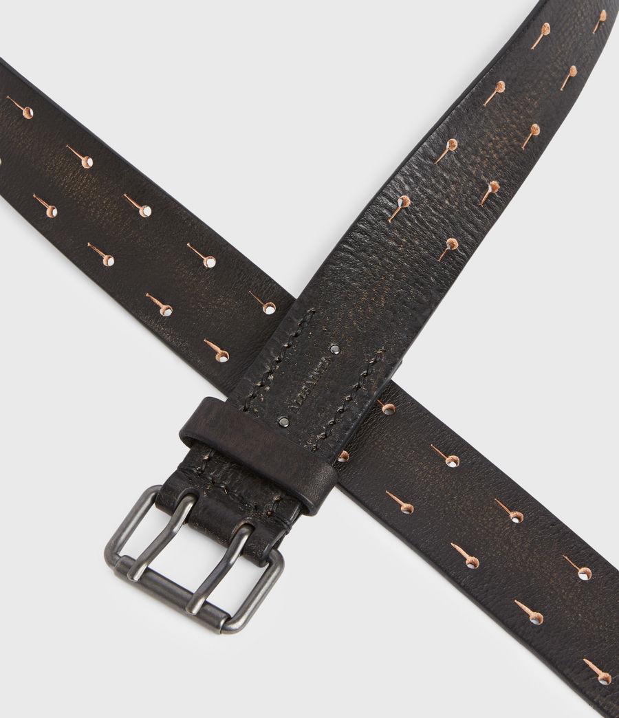 Men's Zaiden Leather Belt (black) - Image 5