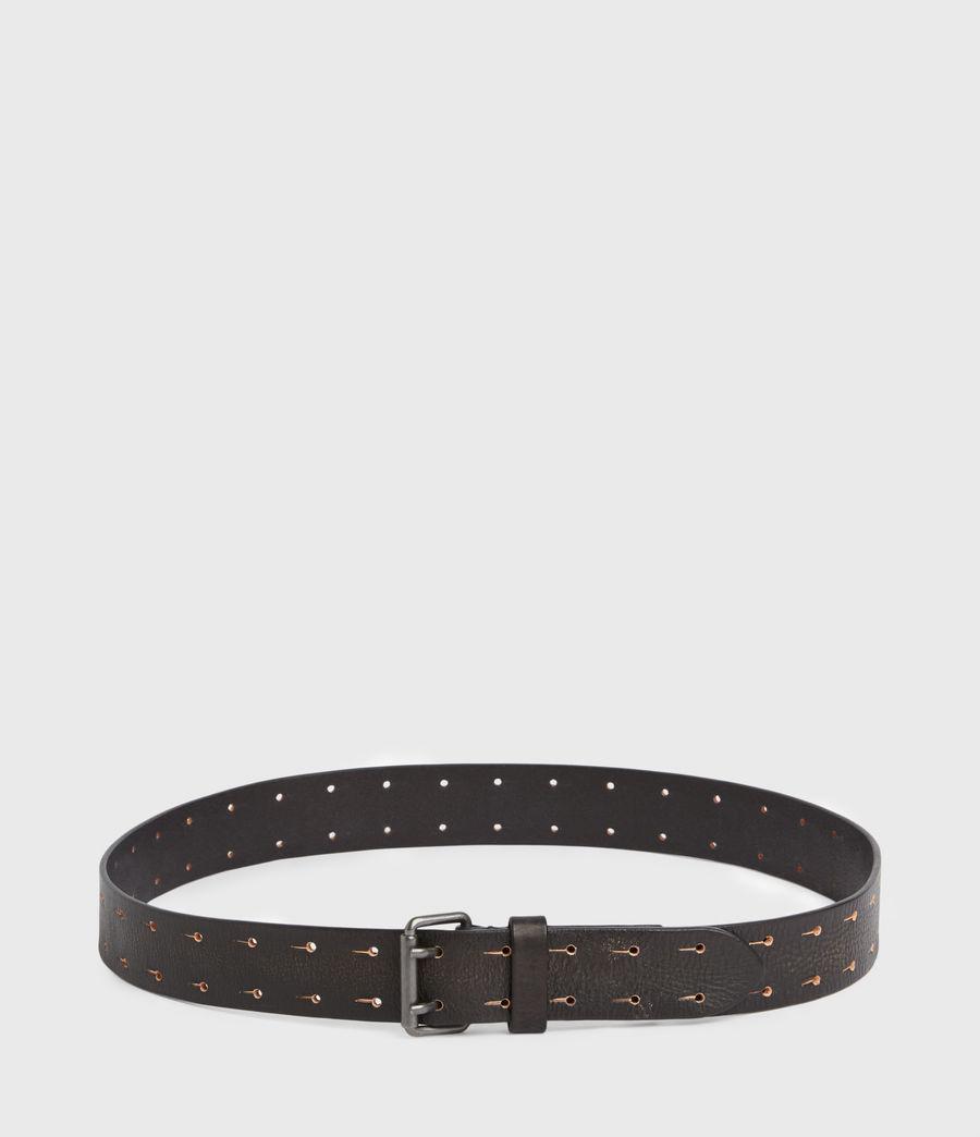 Men's Zaiden Leather Belt (black) - Image 6