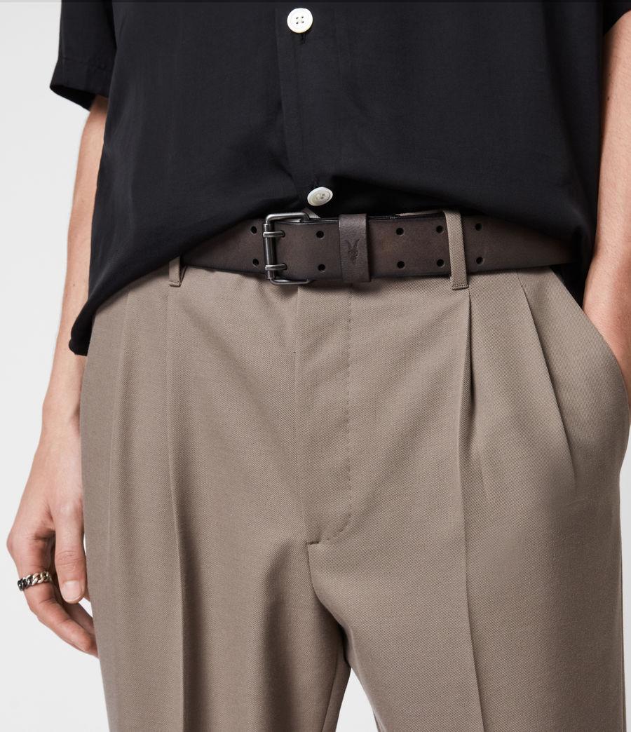 Men's Ryder Leather Belt (black) - Image 2