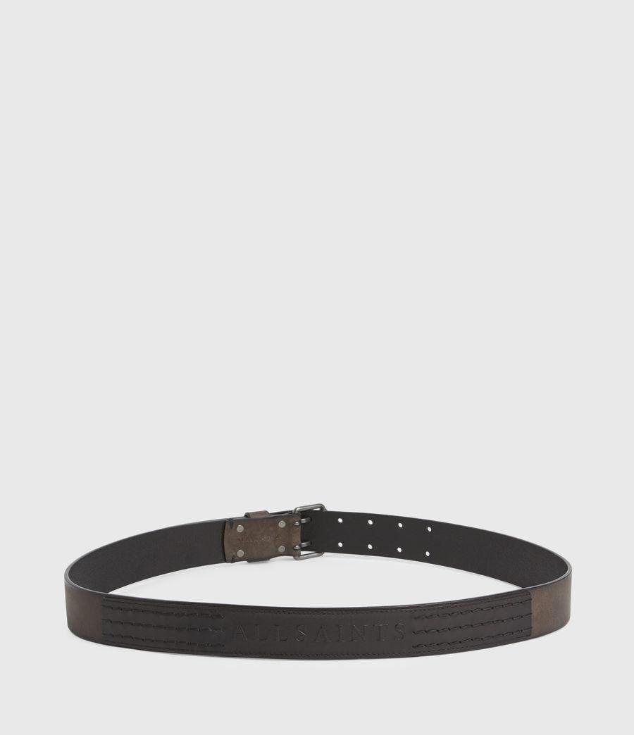 Men's Ryder Leather Belt (black) - Image 7
