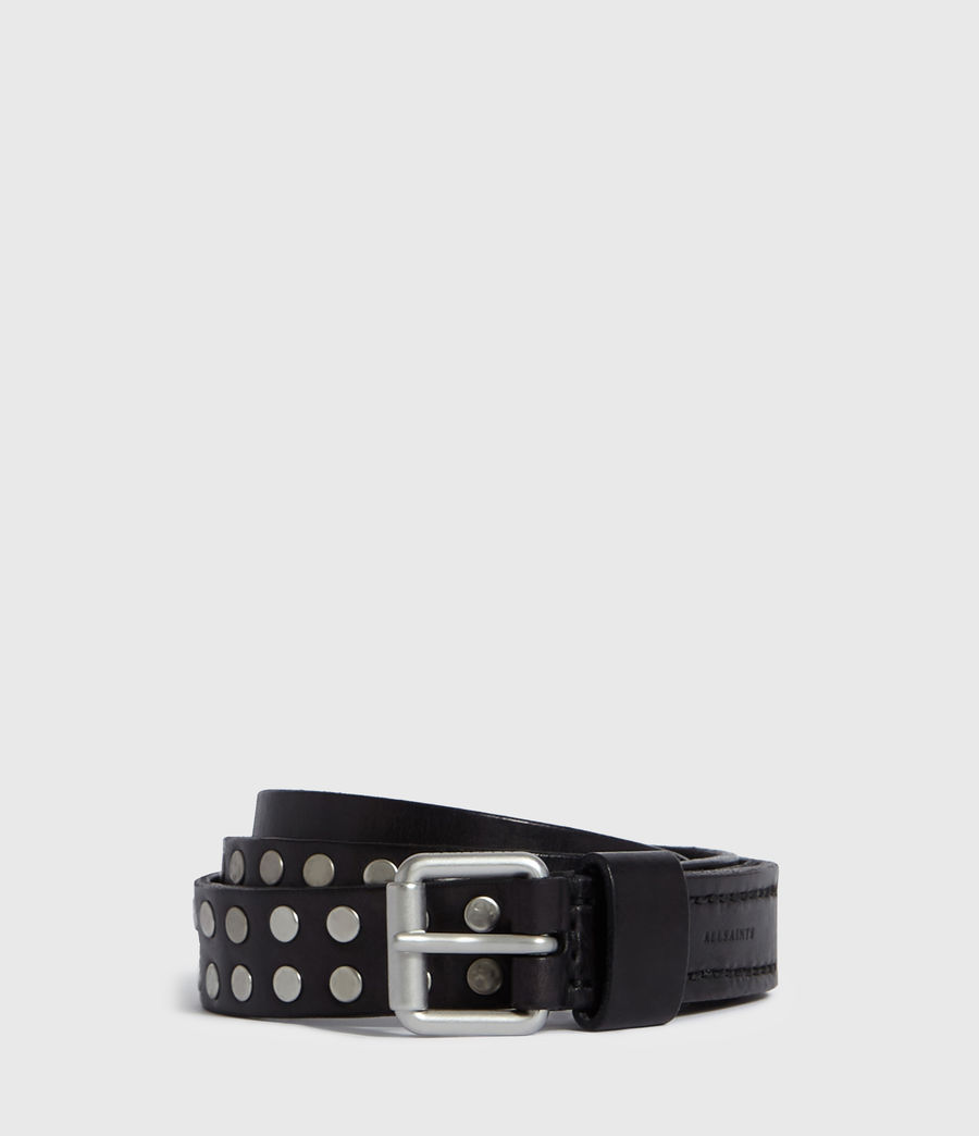 Men's Tyler Leather Belt (black) - Image 1