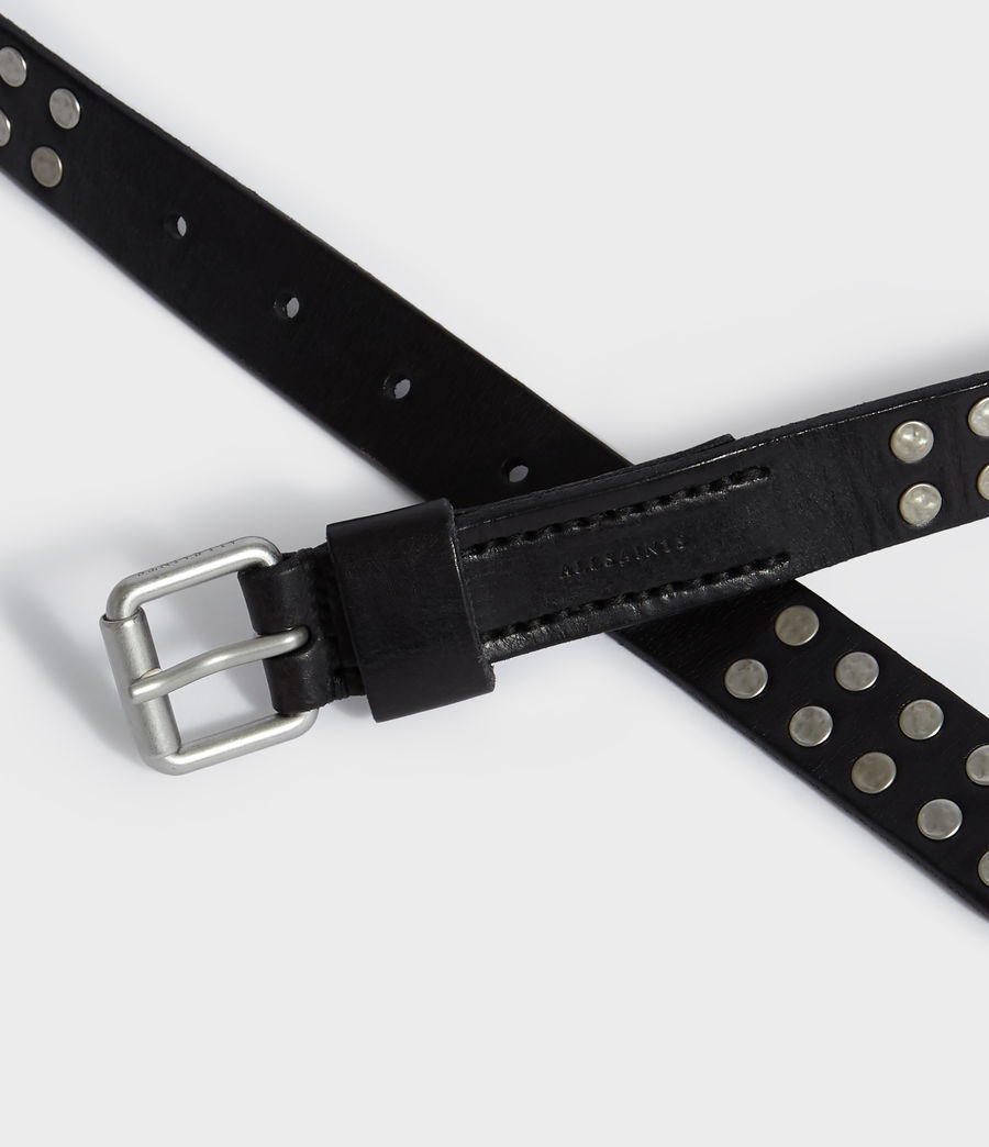 Men's Tyler Leather Belt (black) - Image 3