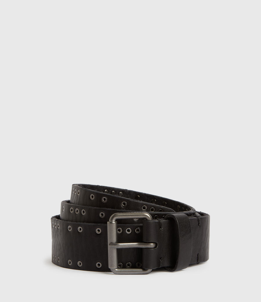 Mens Dawson Leather Belt (black) - Image 1