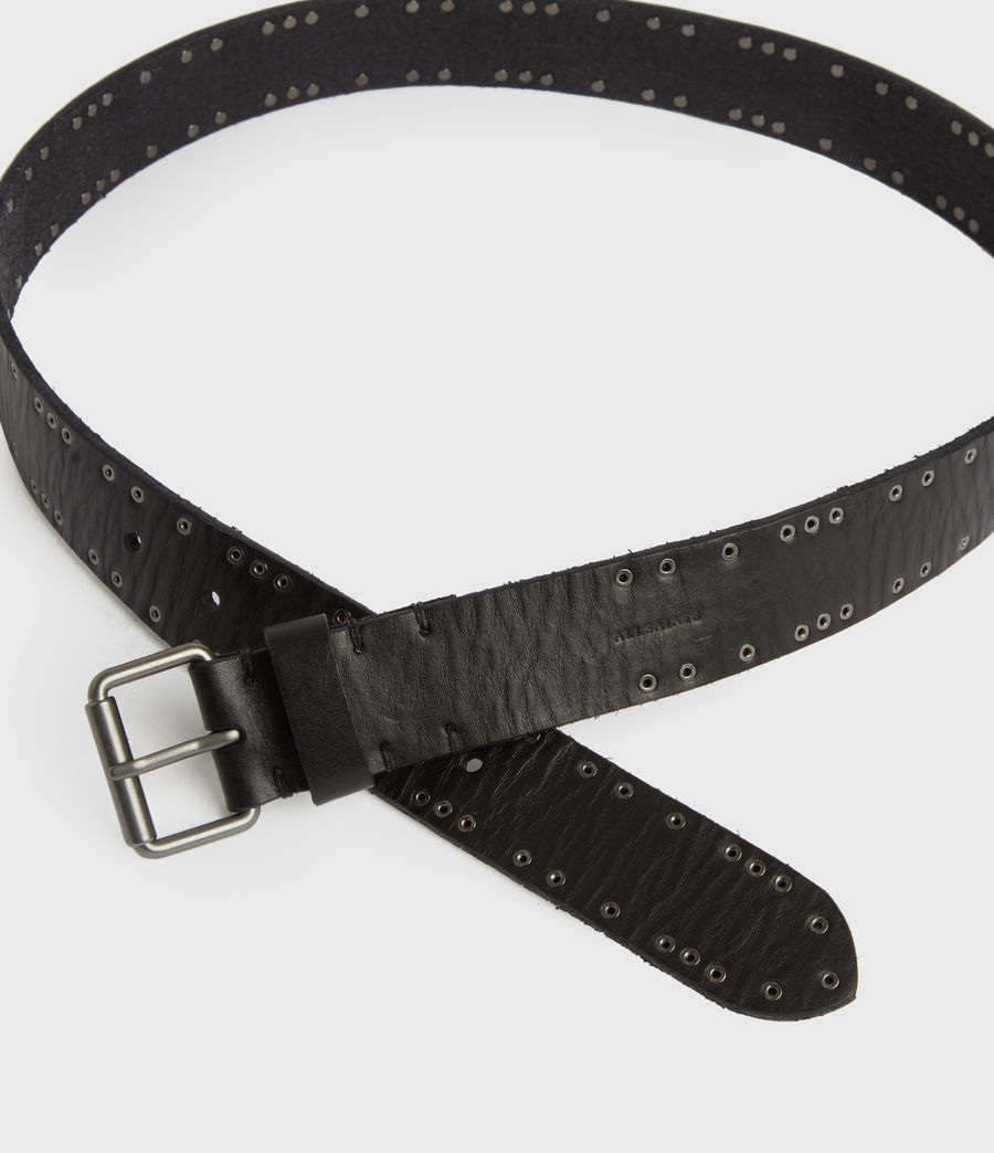 Mens Dawson Leather Belt (black) - Image 2