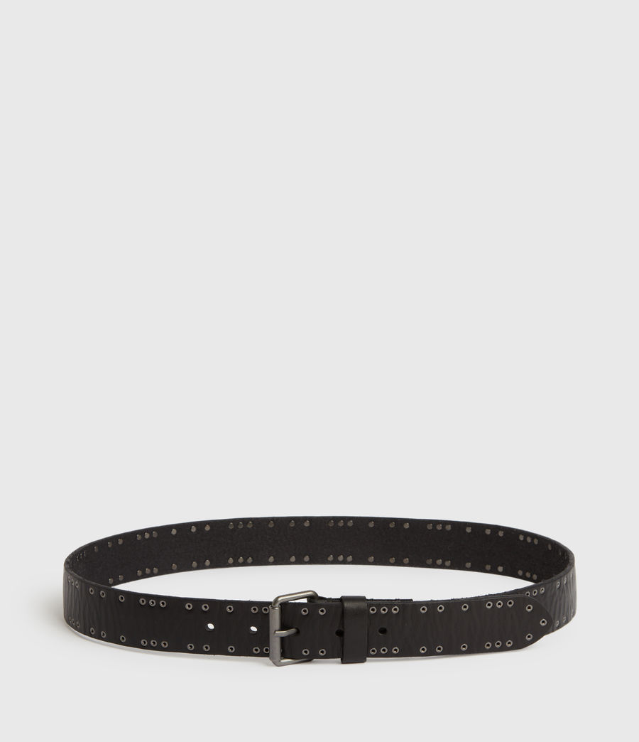 Mens Dawson Leather Belt (black) - Image 3