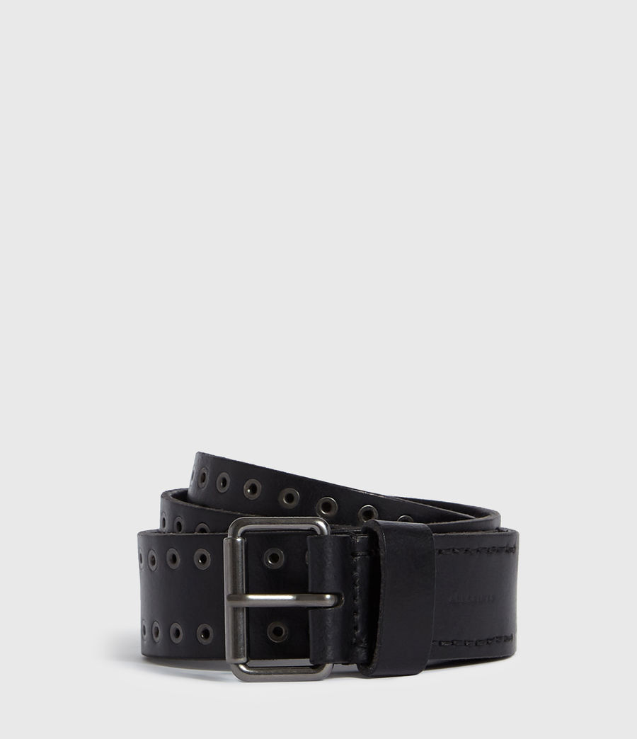 Mens Jace Leather Belt (black) - Image 1