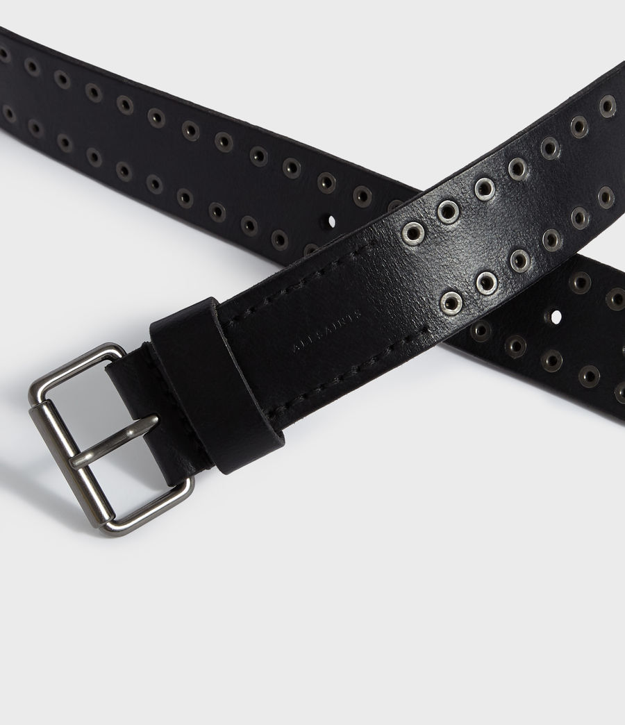 Mens Jace Leather Belt (black) - Image 3
