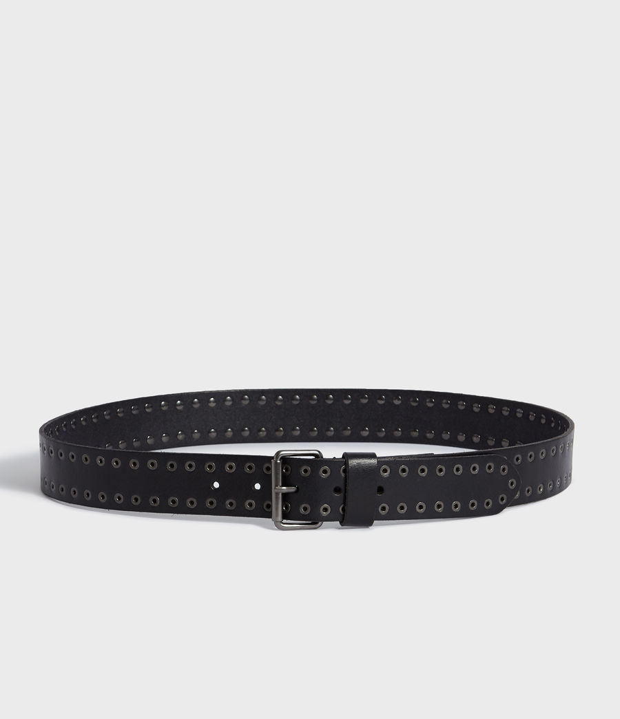 Mens Jace Leather Belt (black) - Image 4