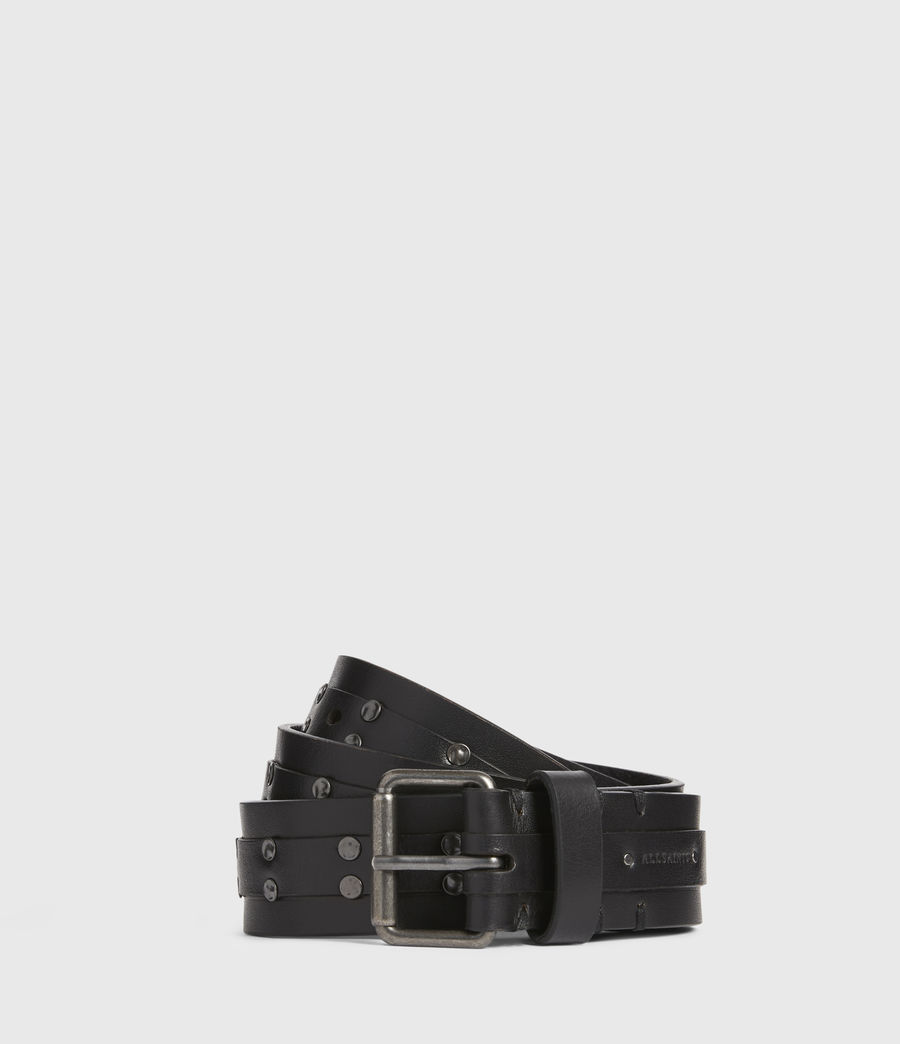 Men's Shane Leather Belt (black) - Image 1