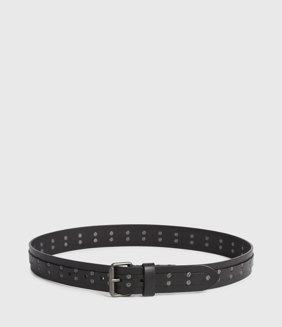 Men's Shane Leather Belt (black) - Image 4