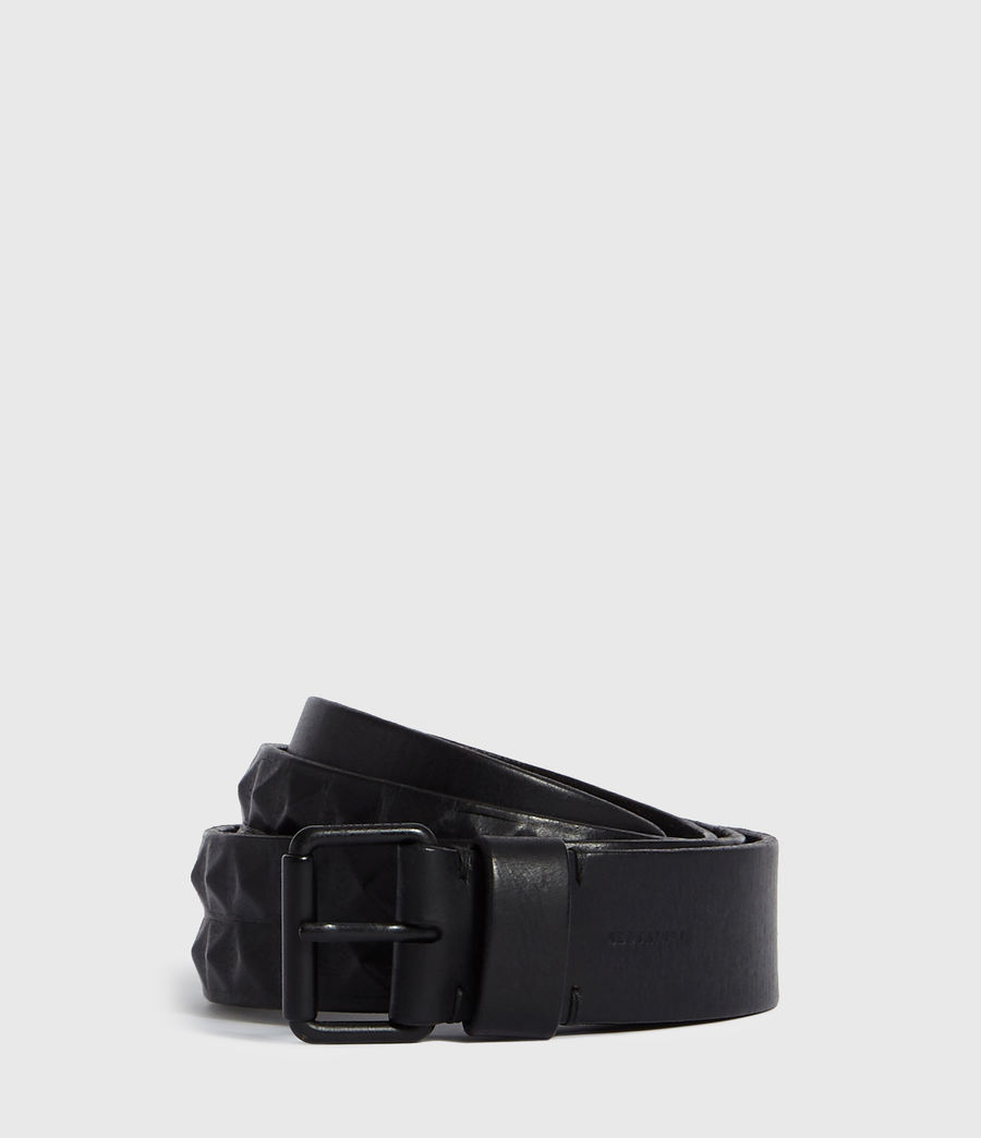 Mens Kai Leather Belt (black) - Image 1