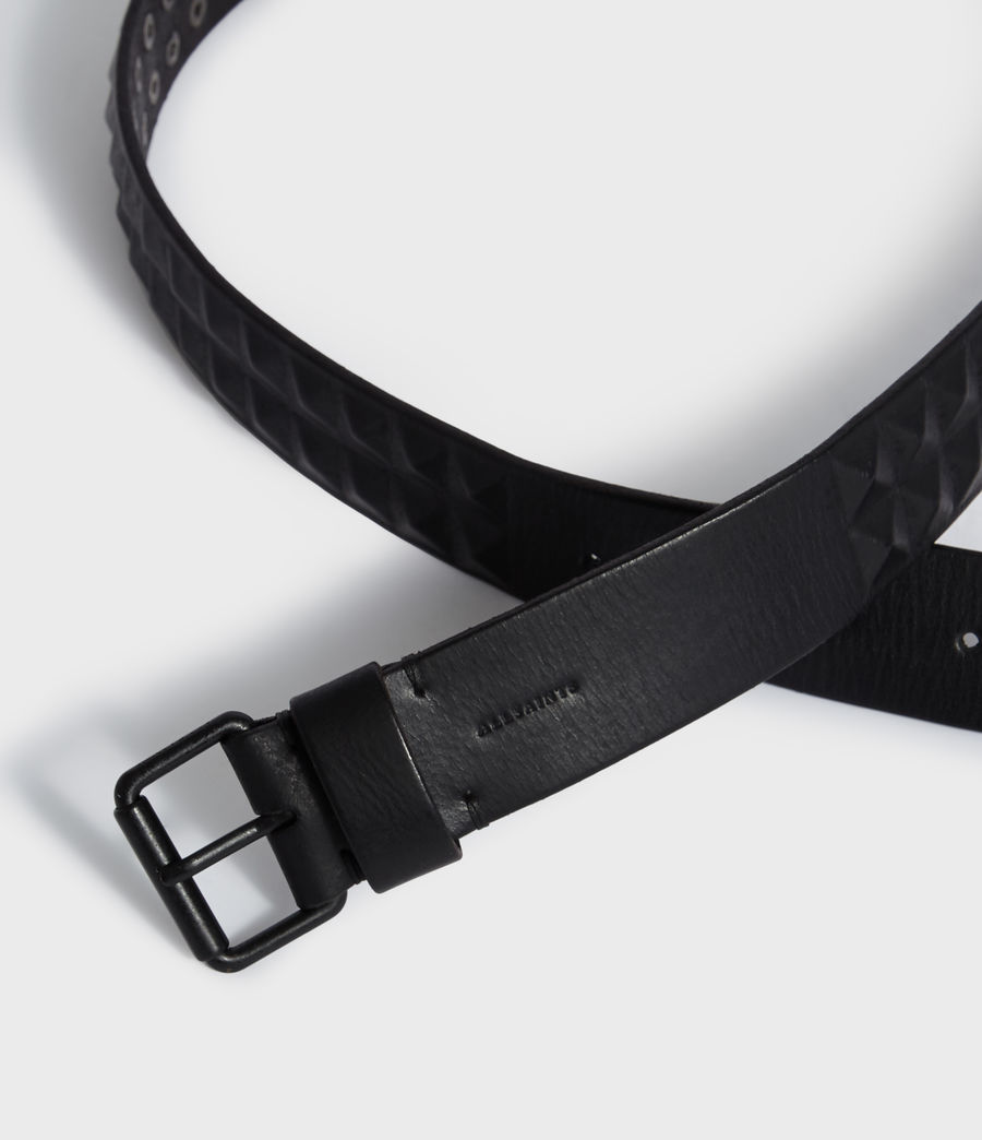 Mens Kai Leather Belt (black) - Image 3