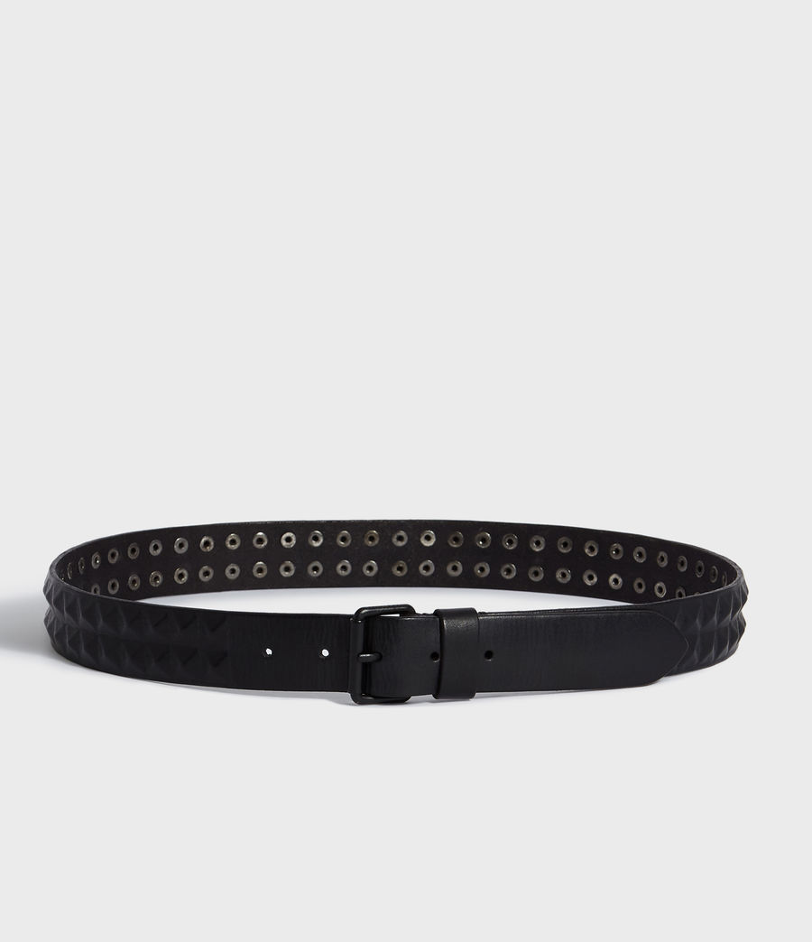 Mens Kai Leather Belt (black) - Image 4