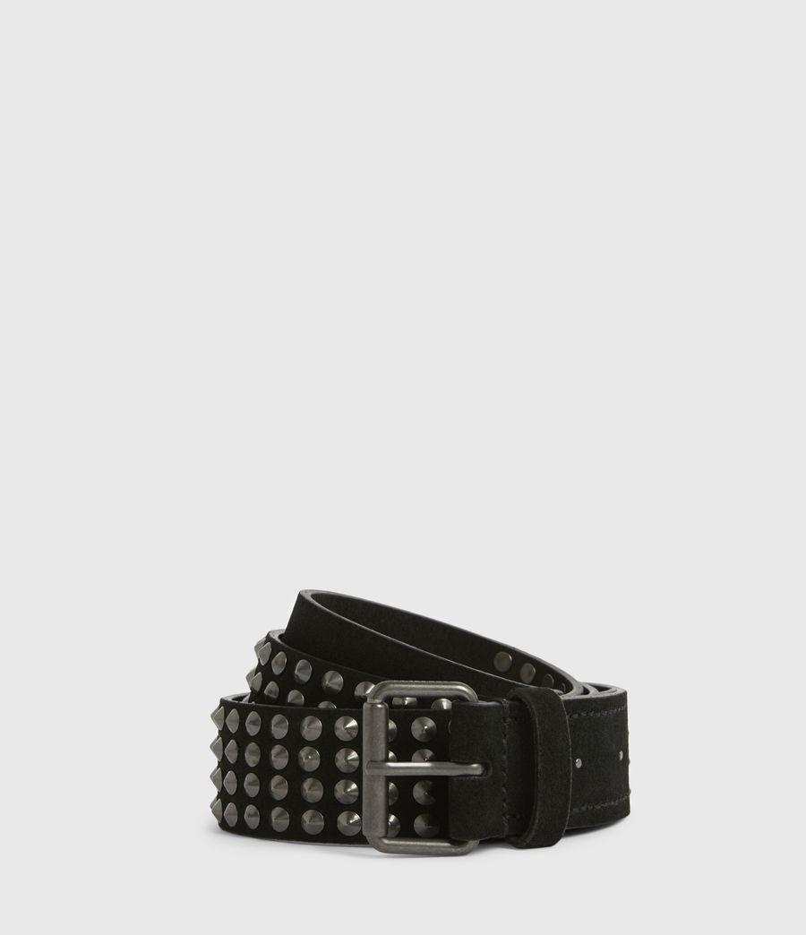 Mens West Leather Belt (black) - Image 1