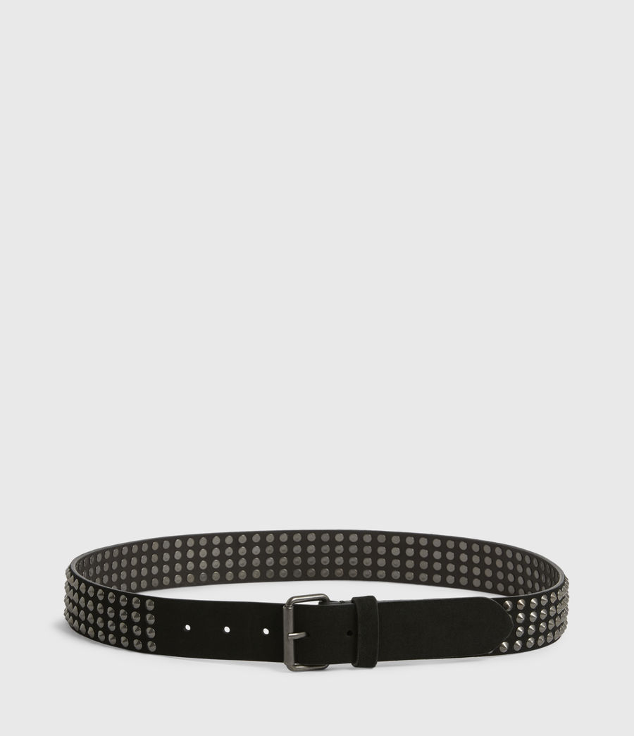 Mens West Leather Belt (black) - Image 4
