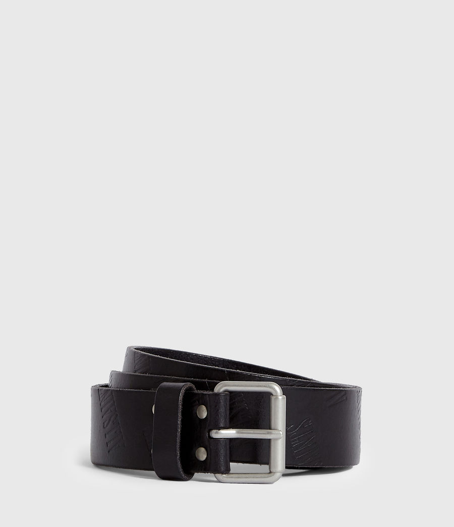 Mens Wilder Leather Belt (black) - Image 1
