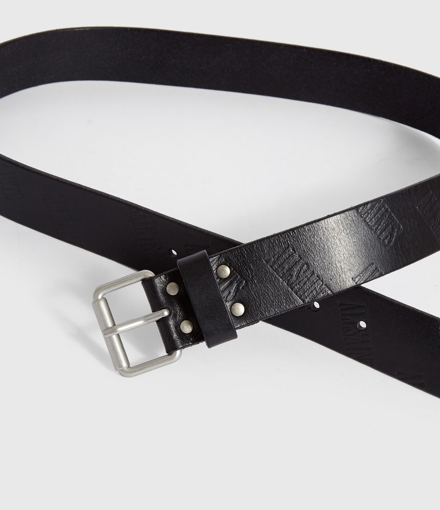 Mens Wilder Leather Belt (black) - Image 3