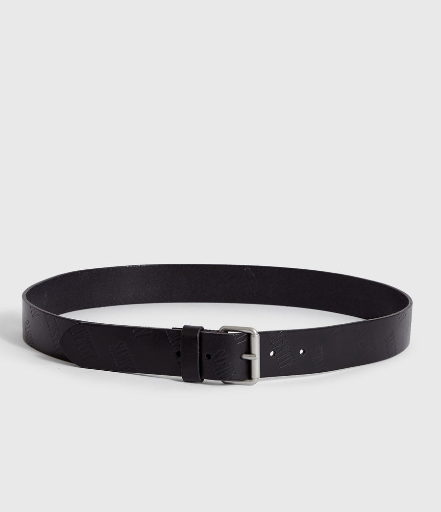 Mens Wilder Leather Belt (black) - Image 4