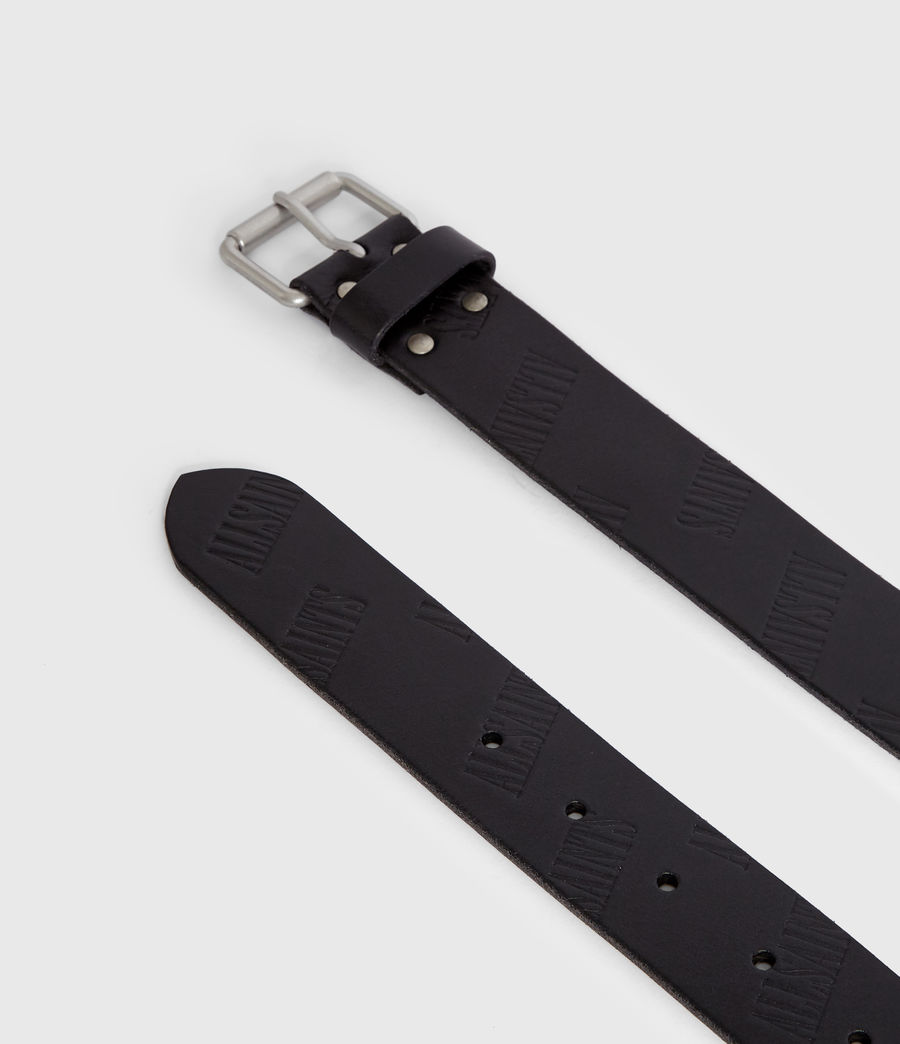 Mens Wilder Leather Belt (black) - Image 5