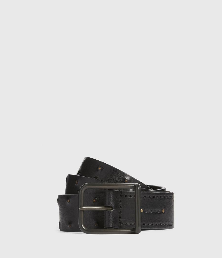 Mens Chase Leather Belt (black) - Image 1