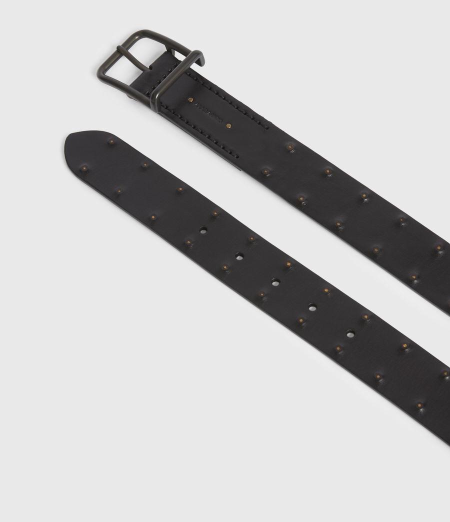 Mens Chase Leather Belt (black) - Image 2