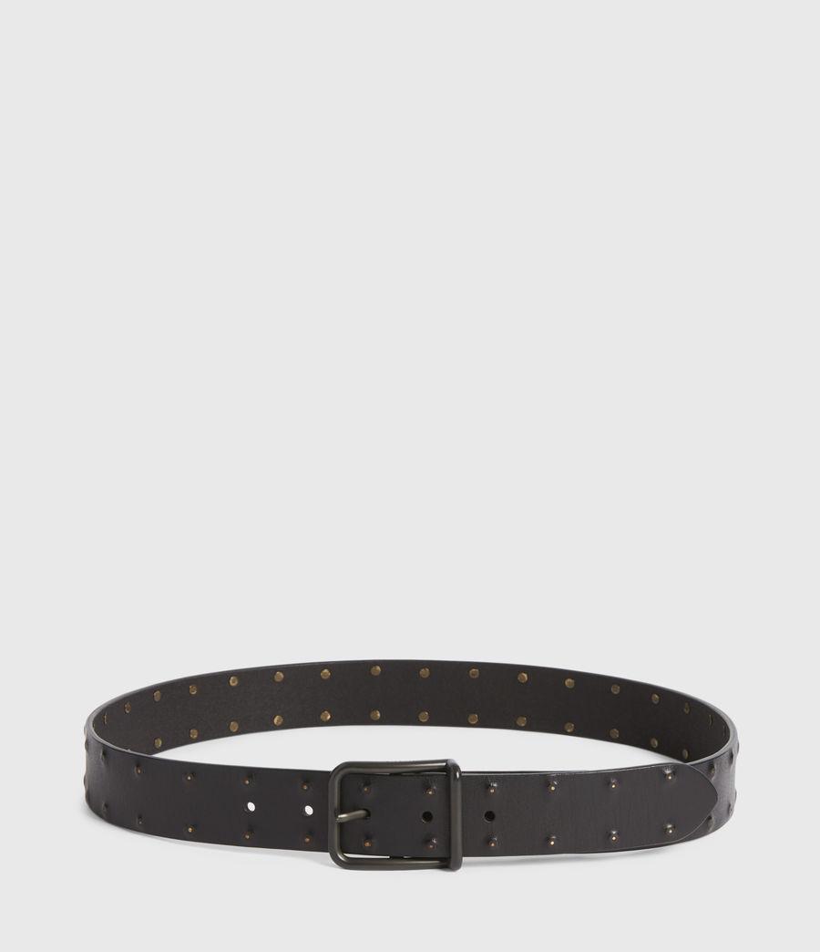 Mens Chase Leather Belt (black) - Image 4