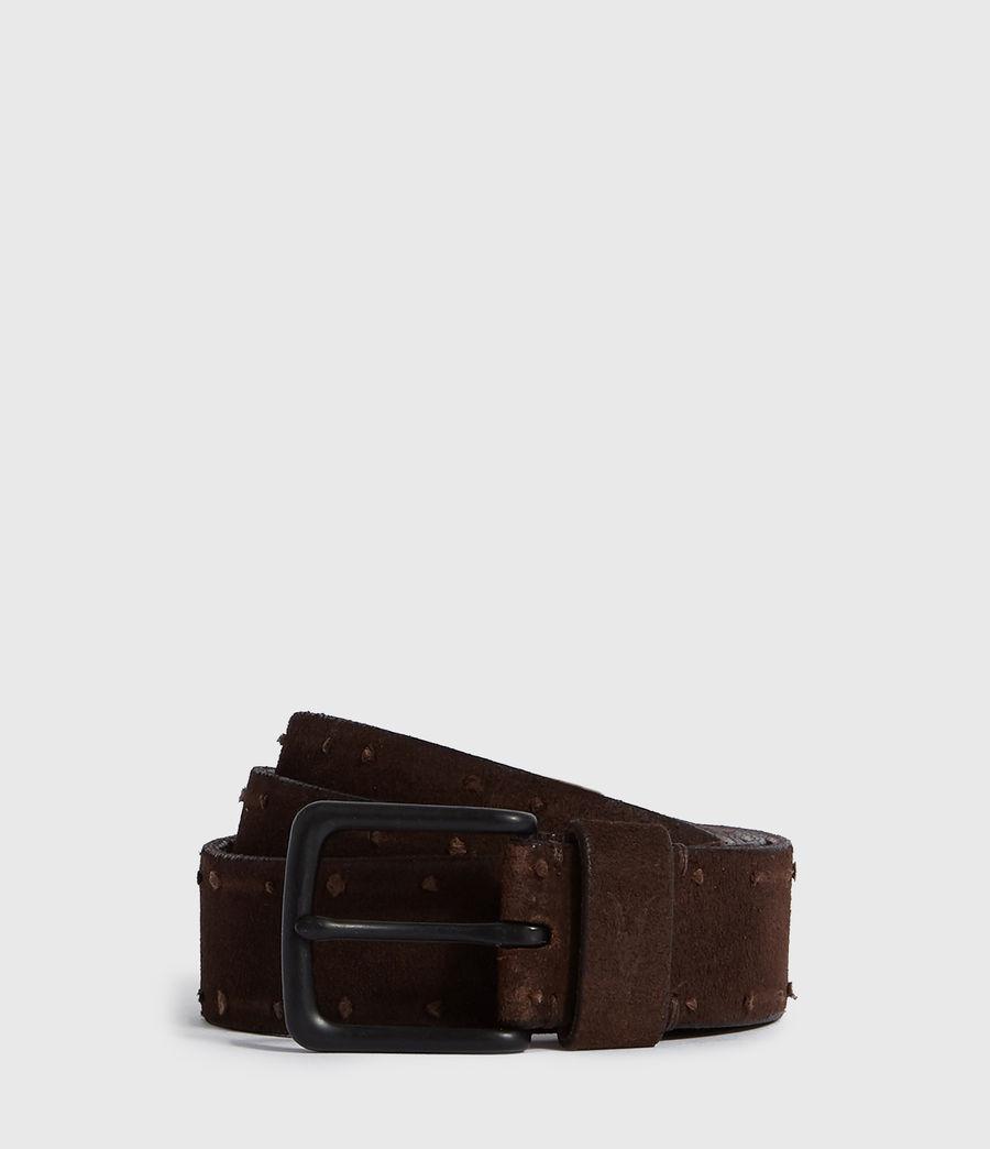Mens Kalo Suede Belt (brown) - Image 1