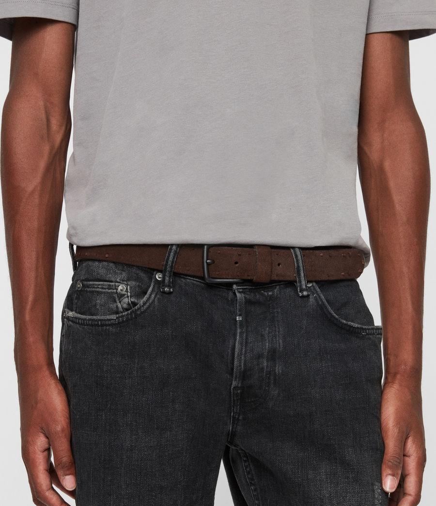 Mens Kalo Suede Belt (brown) - Image 2
