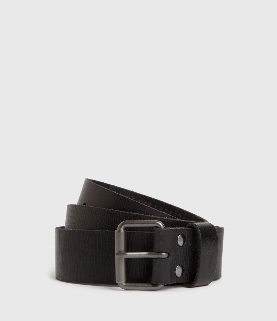 Men's Laxford Leather Belt (black) - Image 1