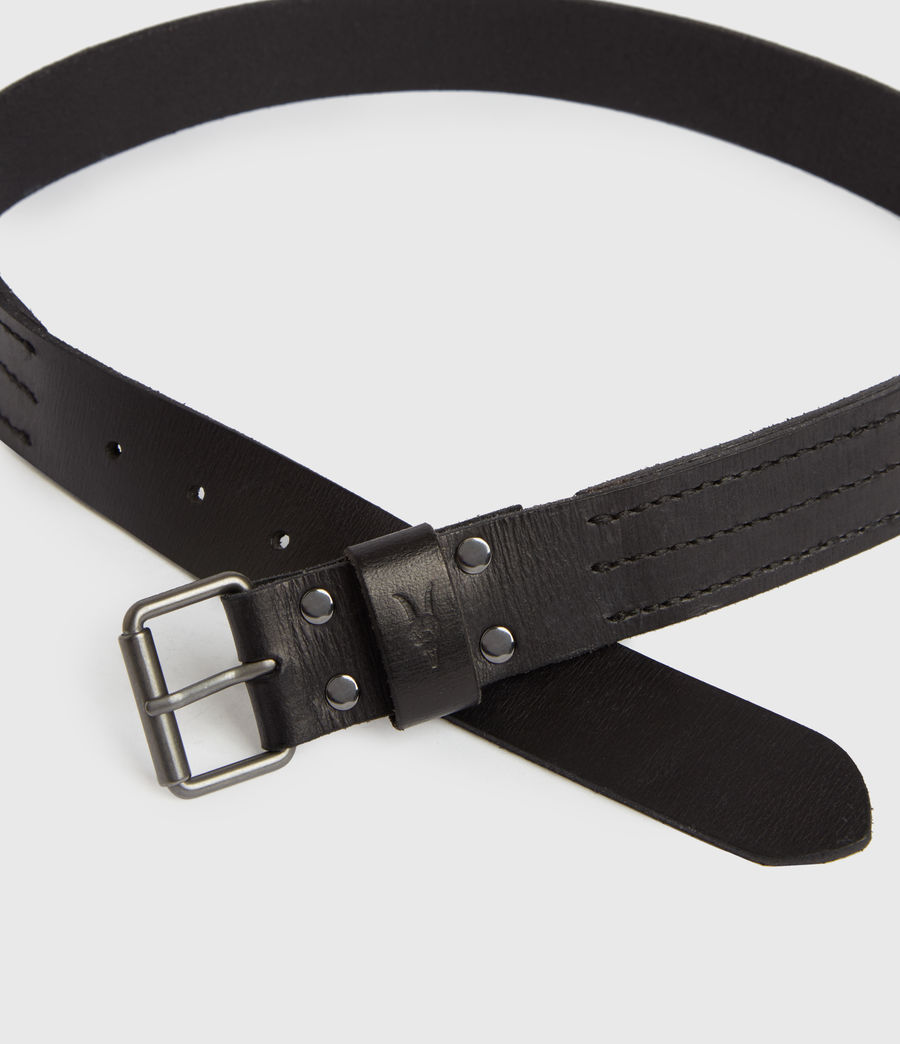 Men's Laxford Leather Belt (black) - Image 3