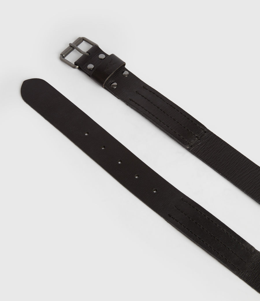 Men's Laxford Leather Belt (black) - Image 4